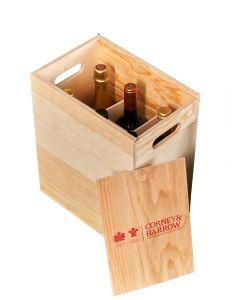 EMPTY 6 bottle Corney & Barrow Wooden case *