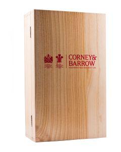 EMPTY 2 bottles Corney & Barrow Wooden case