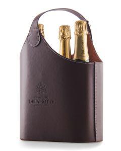 Delamotte Blanc de Blancs NV 3 bottles + Leather effect Bottle Holder