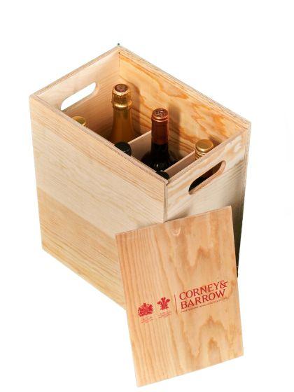 EMPTY 6 bottle Corney & Barrow Wooden case