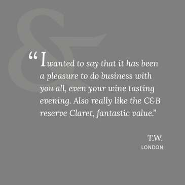 wine review, corney and barrow customer review